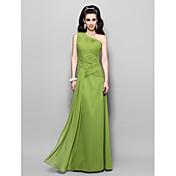 sifonki tuppi / sarake yksi lapa lattia-pituus ilta / kävelyttää mekko innoittamana Sigourney Weaver Golden Globe