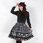 Falda Gosurori Amaloli Lolita Clásica y Tradicional Princesa Cosplay Vestido  de Lolita Estampado Sin Mangas Longitud Mediana Vestido por