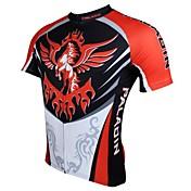 ILPALADINO サイクリングジャージー 男性用 半袖 バイク 高通気性 速乾性 抗紫外線 ジャージー トップス ポリエステル100% アニマル 春 夏 レジャースポーツ サイクリング/バイク