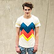 Camiseta Crema Td30742 envoltura de la manera Viishow Hombres