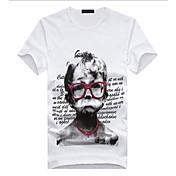 シャツプリントコットンTシャツボトメンズ創造的表現