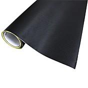 Merdia Decoração 3D PVC fibra de carbono película do envoltório etiqueta para o carro-Preto(127 x 50cm)