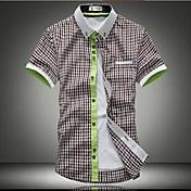 メンズファッション高品質なビッグフラワーショートスリーブシャツ