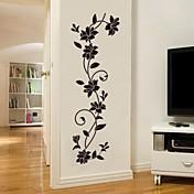 植物の ロマンティック ファッション ウォールステッカー プレーン・ウォールステッカー 飾りウォールステッカー,ビニール 材料 洗濯可 取り外し可 ホームデコレーション ウォールステッカー・壁用シール
