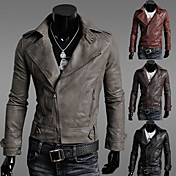 Menmax hombres chaqueta de la motocicleta de Bodycon