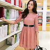 De las mujeres Vestido Vintage / Casual Mini Encaje