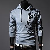 lesen moda sudadera con capucha del dragón del estilo chino de los hombres imprimir informal con capucha o