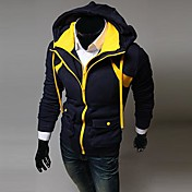 moda sudadera con capucha de color de contraste de lesen hombres falsos dos piezas hoodie ocasional o