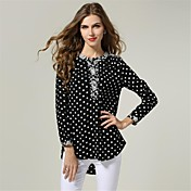Women's New Autumn Plus Fertilizer to Increase Retro Fashion Stitching Plus size Chiffon Shirt