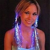 flicker tornante luce di notte plastico in fibra ottica (1pcs, colore casuale)