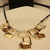 Wendy Women's European Style Cut Out Square Short Necklace