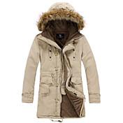 夢想メンズパーカー韓国スタイルの綿パッド入りのコート