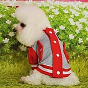 Gatos Perros Sudadera Rojo Amarillo Azul Negro Rosado Ropa para Perro Invierno Primavera/Otoño Bloques Casual/Diario Deportes