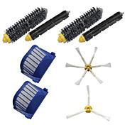 2 filtros vac aero&cepillos laterales&2 cepillos de cerdas&2 Kit de cepillos batidor flexible para iRobot Roomba serie 600