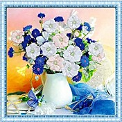 DIYの壁掛け壁の装飾、牧歌的な花柄の3Dステッチワークキャンバスの絵画芸術の壁の装飾