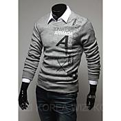 zlouメンズ文字のパターンのセーター