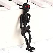 Dia da Mentira halloween definir brinquedos crânio realistas (cor aleatória)