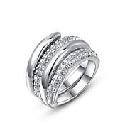 Žene Prstenje sa stavom Personalized kostim nakit Kristal Pozlaćeni Jewelry Za Vjenčanje Party Dnevno Kauzalni