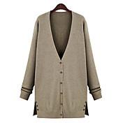 estilo europeo de Gediao mujeres mayores de tamaño suéter tejido de punto