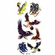 vodotěsný eagle dočasné tetování nálepka tetování vzorek forma na tělě (18,5 cm * 8,5 cm)