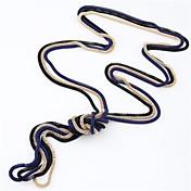 Žene Vintage ogrlice Legura Zmija Moda Simple Style Crn Crvena Plava Pink Zlatan Jewelry Dnevno 1pc