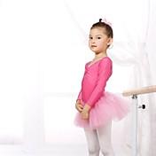 Ballet Leotardos Mujer Niños Espándex Tul Mangas largas