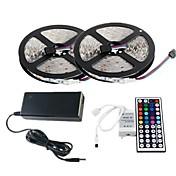 10M RGB LED Strip Light 300 3528 SMD and 44Key Remote Controller and 6A EU AU US Power Supply (AC110-240V)