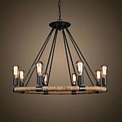 Lámparas Araña ,  Tradicional/Clásico Rústico/Campestre Retro Campestre Cosecha Pintura Característica for Estilo de la vela MetalSala de