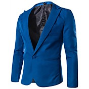 único botão casaco cor de doces dos homens Hongda