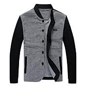 堀田メンズ長袖スリムファッションスタンドカラーのcausualジャケット