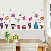 zidne naljepnice na zid naljepnice lončanica stil ukrasne naljepnice
