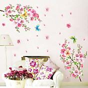 Botánico Romance Naturaleza muerta De moda Florales Pegatinas de pared Calcomanías de Aviones para Pared Calcomanías Decorativas de Pared