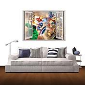 カートゥン 風景画 人物 ウォールステッカー 3D ウォールステッカー 飾りウォールステッカー 材料 取り外し可 ホームデコレーション ウォールステッカー・壁用シール