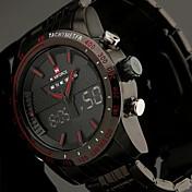 NAVIFORCE Pánské Náramkové hodinky Křemenný Japonské Quartz LED LCD Kalendář Chronograf Voděodolné Hodinky s dvojitým časem poplach Nerez