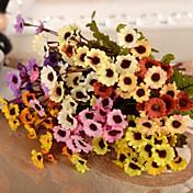 Rama Seda Plástico Crisantemo Flor de Mesa Flores Artificiales