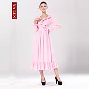 Yalun ™ vestido maxi spandex nueva moda de las mujeres de la vendimia lápiz dulce