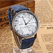 yoonheel 女性用 ファッションウォッチ クォーツ レザー バンド ビンテージ ワードダイアル腕時計 ブラック ブルー ブラウン