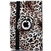 leopardo de impresión de cuero de la PU 360⁰ casos / inteligente cubre el ipad 2 / ipad 3 / ipad 4