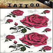 1 タトゥーステッカー 花シリーズ Non Toxic 大きいサイズ 腰女性 フラッシュタトゥー 一時的な入れ墨