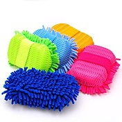 súper herramientas de limpieza de microfibra de lavado / cuidado del automóvil cepillo limpio limpieza esponja color al azar