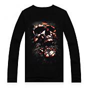 MEN Tシャツ ( コットン/モーダル ) カジュアル/プリント/パーティー ラウンド - 長袖