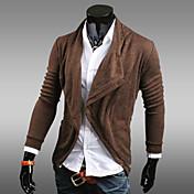 Conjuntos Activewear De los hombres Casual Un Color - Mezcla de Algodón - Manga Larga