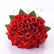 """Svatební kytice Kulatý Růže Kytice Svatba Párty / večerní akce Satén 30 cm (cca 11,8"""")"""
