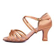 Zapatos de baile (Marrón/Otros) - Danza latina/Salsa - Personalizados - Tacón Personalizado