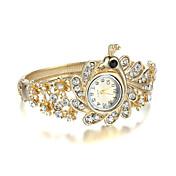 女性用 ファッションウォッチ クォーツ 合金 バンド バングル エレガント腕時計 ゴールド