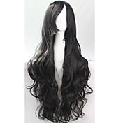 Mujer Pelucas sintéticas Sin Tapa Negro Peluca de cosplay Las pelucas del traje