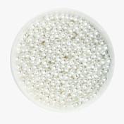 beadia 58g (aprox 2000pcs) cuentas de plástico de 4 mm de perlas redondas de color blanco abs