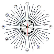 "Moderno/Contemporáneo Reloj de pared,Redondo Hierro 50 x 50 x 3(19.69"" x 19.69"" x 1.18"") Interior Reloj"