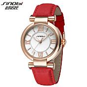 SINOBI女性の黄金のケースクォーツアナログ腕時計(アソートカラー)
