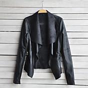 婦人向け 秋 ソリッド トレンチコート シャツカラー ホワイト / ブラック / ブラウン ポリウレタン 長袖 薄手